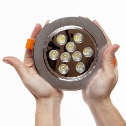 Foco Downlight  LED  Circular 9W 900Lm 30.000H
