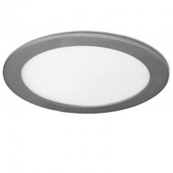 Placa de LEDs Circular  192Mm 15W 1170Lm 30.000H Plata