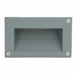 Conector Recto para Carril Focos de LEDs Color Aluminio