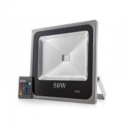 Foco Proyector LED IP65 Ecoline 20W RGB Mando a Distancia