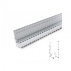 Perfíl Iluminación Escaleras - Gomas Antideslizantes - Difusor Opal x 1M