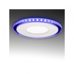 Foco Downlight  LED Circular con Cristal Duo (Blanco/Azul) Ø130Mm 10W 800Lm 30.000H