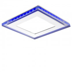 Foco Downlight  LED Cuadrado con Cristal Duo (Blanco/Azul) 160X160Mm 15W 1200Lm 30.000H