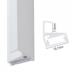 Perfíl Aluminio para Tira LED Estanterías Cristal 8Mm x 2M