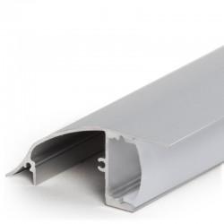 Perfíl Aluminio para Tira LED Instalación Paredes - Difusor Opal  x 2M
