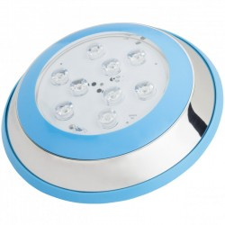 Foco de Piscina de LEDs Montaje Superficie Ø230Mm 6W Multicolor con Mando