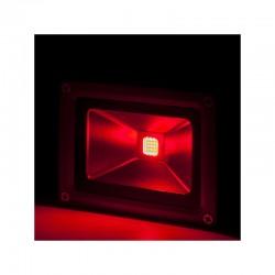 Foco Proyector LED IP65 Brico 10W 850Lm 30.000H Rojo