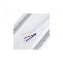 Perfíl/Luminaria de Aluminio para 10 Tiras de LEDS en Paralelo - Difusor Opal -Tira de 1 Metro