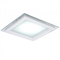 Foco Downlight  LED Cuadrado con Cristal 200X200Mm 15W 1150Lm 30.000H