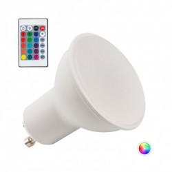 Bombilla de LEDs RGB 5W GU10 Mando a Distancia