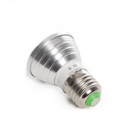 Bombilla de LEDs RGB 3W E27 Mando a Distancia