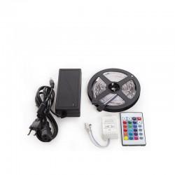 Kit Tira 150 LEDs 36W RGB Blister Transformador, Controlador, Mando a Distancia IP25