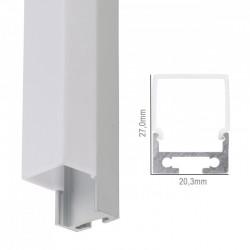 Perfíl Aluminio Curvado para Tira LED Techo/Colgante Difusor Opal LLE-ALP028 x 2M