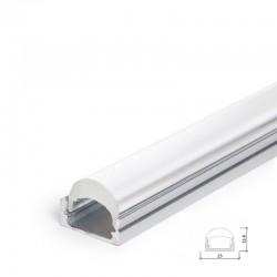 Perfíl Aluminio para Tira LED Difusor Transparente LLE-ALP001-RL x 2M